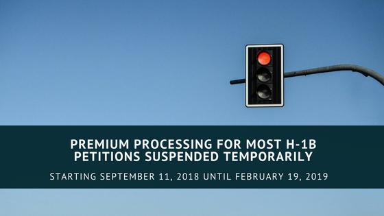 USCIS ANNOUNCES EXTENSION OF PREMIUM PROCESSING SUSPENSION FOR CERTAIN H-1B VISA PETITIONS